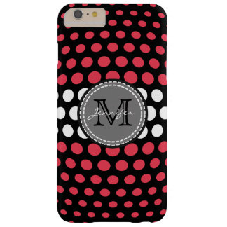 Monogram Desire & White Polka Dots Pattern Barely There iPhone 6 Plus Case