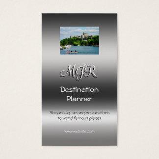 Monogram, Destination Planner, metallic-effect Business Card