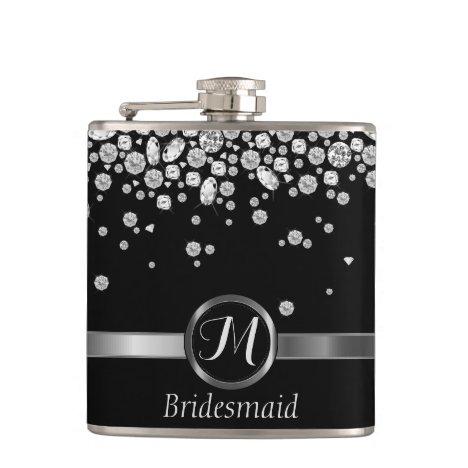 Monogram Diamond - Bridesmaid Flask