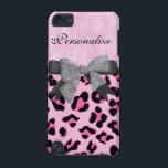 "Monogram, Diamond, Cheetah Skin iPod Cases<br><div class=""desc"">Elegant Monogram,  Pink fur,  Double bow,  diamonds,  Pink Cheetah print,  iPod Cases</div>"