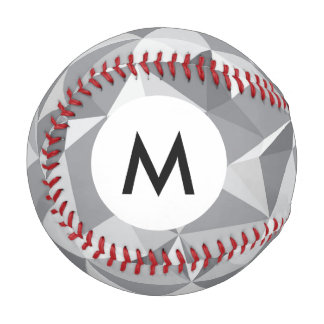 Monogram Diamond Pattern - Abstract Polygon Baseball