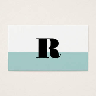 Monogram dip dyed business card