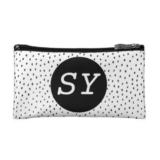 Monogram Doodle Spot Cosmetics Bag