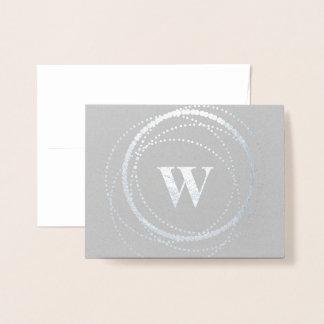 Monogram Dot Circle | Stationary Foil Card
