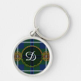 Monogram Douglas Tartan Silver-Colored Round Keychain