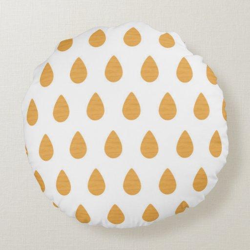 Monogram drop pattern round throw pillow Zazzle