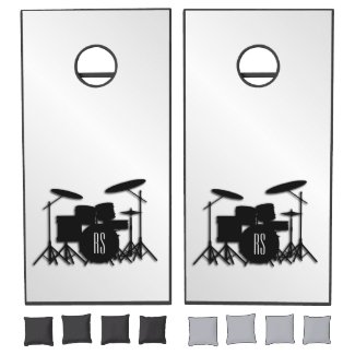Monogram Drum Set Silver