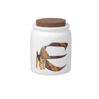 Monogram E Candy Jars