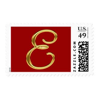 Monogram E Gold Postage
