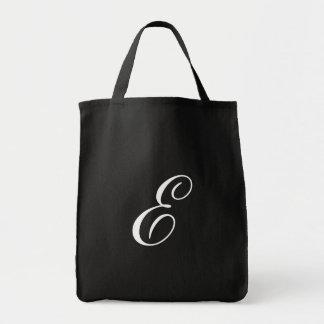 Monogram E Grocery Tote <Black>