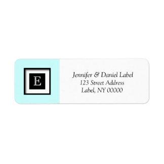 Monogram E Personalized Return Address Label