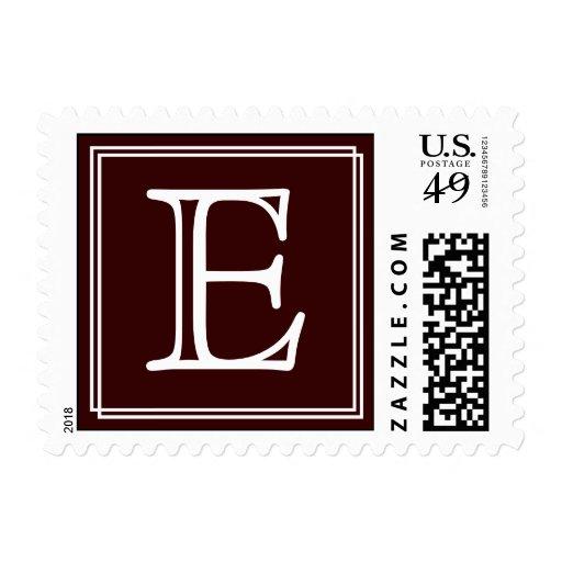 Monogram : E Postage