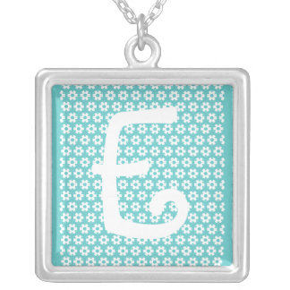 Monogram E Silver Plated Necklace