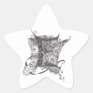 Monogram E Star Sticker