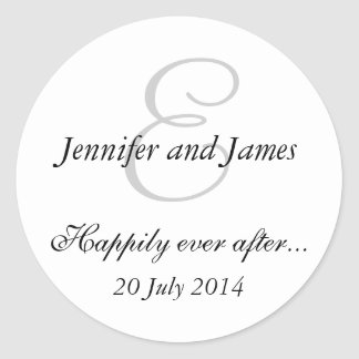 Monogram E Stickers for Wedding Favours