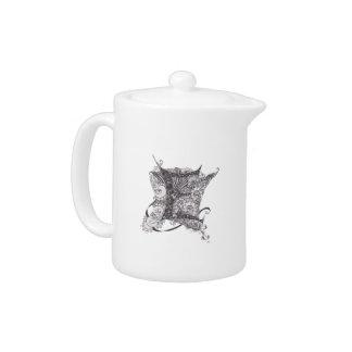 Monogram E Teapot