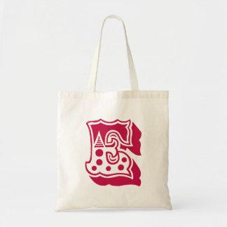 "Monogram ""E"" Tote Bag"