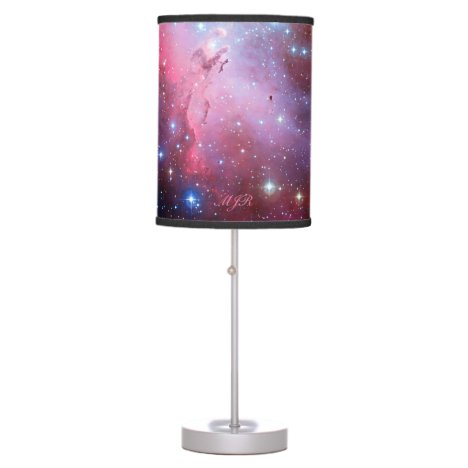 Monogram Eagle Nebula outer space picture Table Lamp
