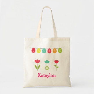 Monogram Easter Egg Tote Bag