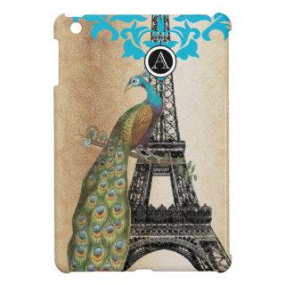 Monogram Eiffel Tower Peacock iPad Mini Case