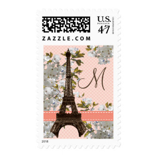 Monogram Eiffel Tower Postage Stamps