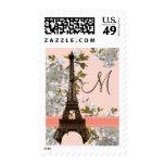 Monogram Eiffel Tower Postage Stamps