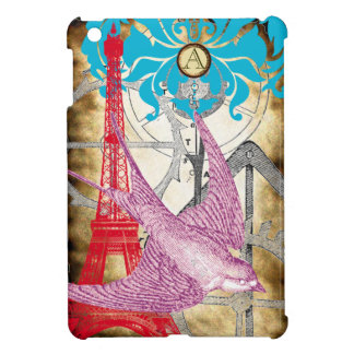 Monogram Eiffel Tower Steam Punk iPad Mini Case