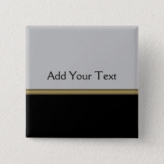 Monogram Elegance in Black Grey Gold Button