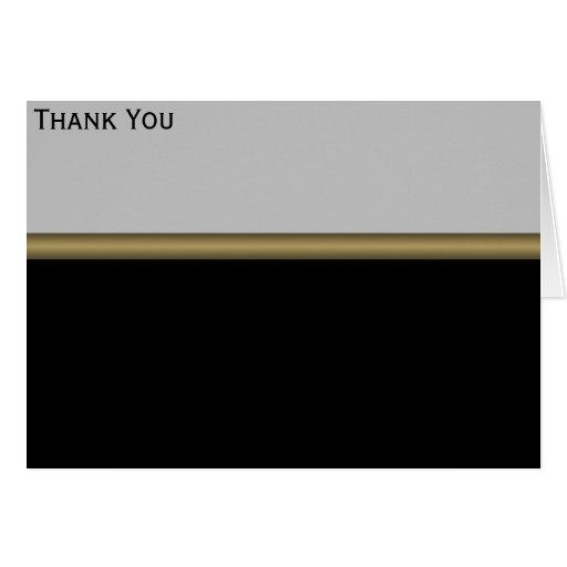 Monogram Elegance in Black Grey Gold Cards