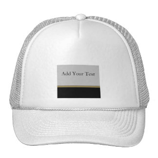 Monogram Elegance in Black Grey Gold Trucker Hat