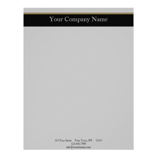 Monogram Elegance in Black Grey Gold Letterhead