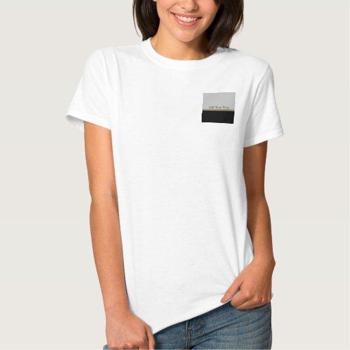 Monogram Elegance in Black Grey Gold T-Shirt