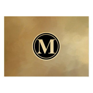 Monogram Elegant and Abstract Background Large Business Cards (Pack Of 100)