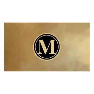 Monogram Elegant and Abstract Background Double-Sided Standard Business Cards (Pack Of 100)
