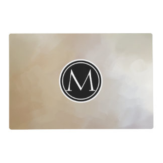 Monogram Elegant and Abstract Background Placemat