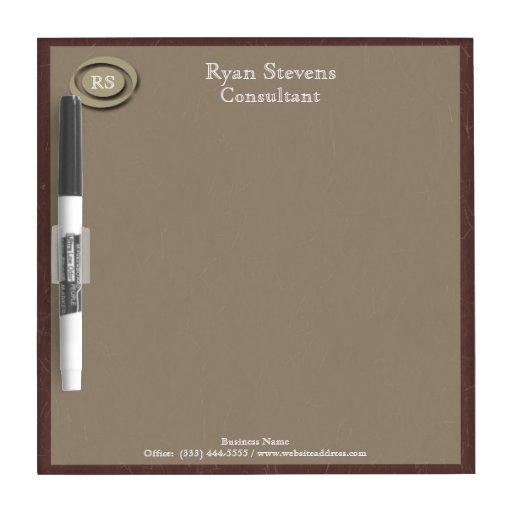 monogram elegant maroon paper dry erase board zazzle