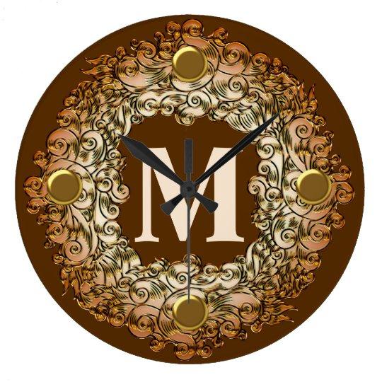 Monogram Elegant  Wall Clock