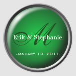 Monogram Envelope Seal :: Emerald Stickers