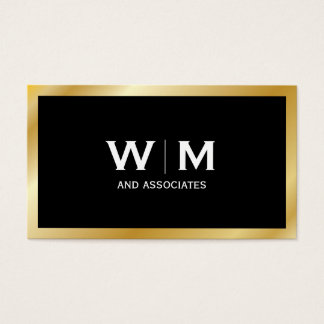 Monogram | Executive Gold Business Card