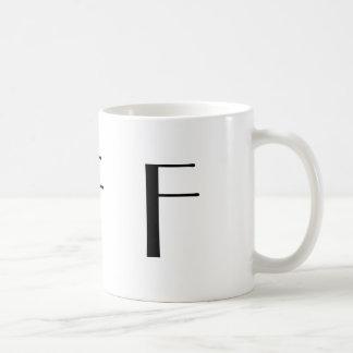 Monogram F Black and White Modern Coffee Mug
