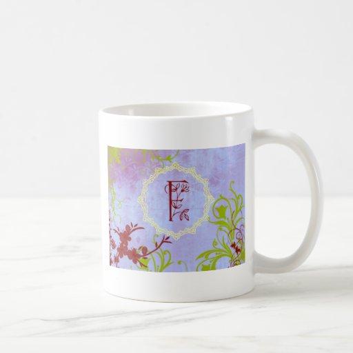 Monogram F Classic White Coffee Mug