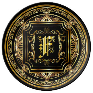 Monogram F ImportantView About Design Porcelain Plate