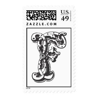 Monogram F in Black Stamps