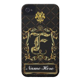 Monogram F iphone Case Mate Please View Notes iPhone 4 Case-Mate Case