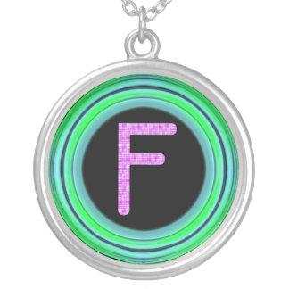 """Monogram """"F"""" Pendants"""