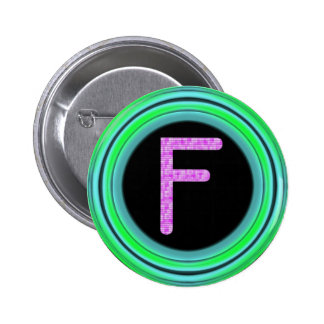 "Monogram ""F"" Pinback Buttons"