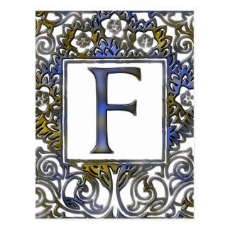 Monogram F Postcard