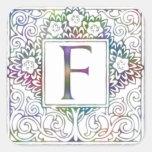 Monogram F Sticker
