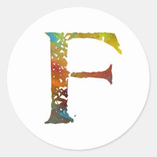 Monogram - F - Sticker