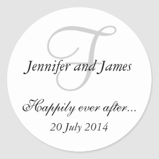 Monogram F Stickers for Wedding Favours
